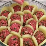 Boulettes de viande et pommes de terre gratinées