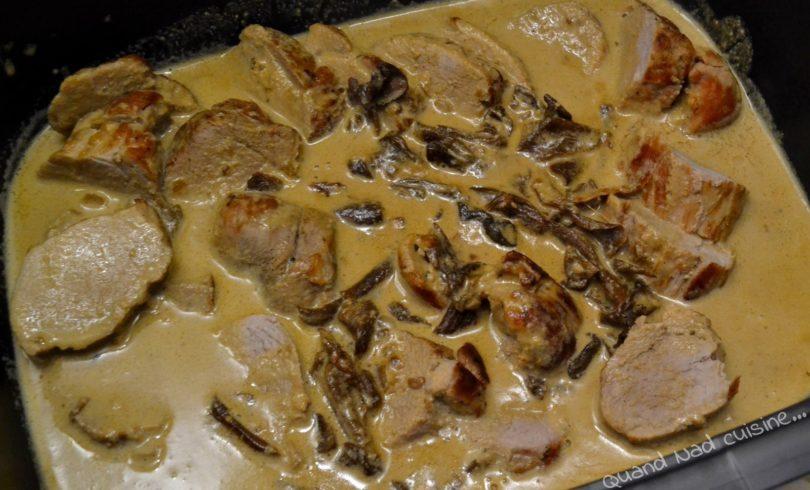 Filet mignon aux cèpes, sauce au foie gras