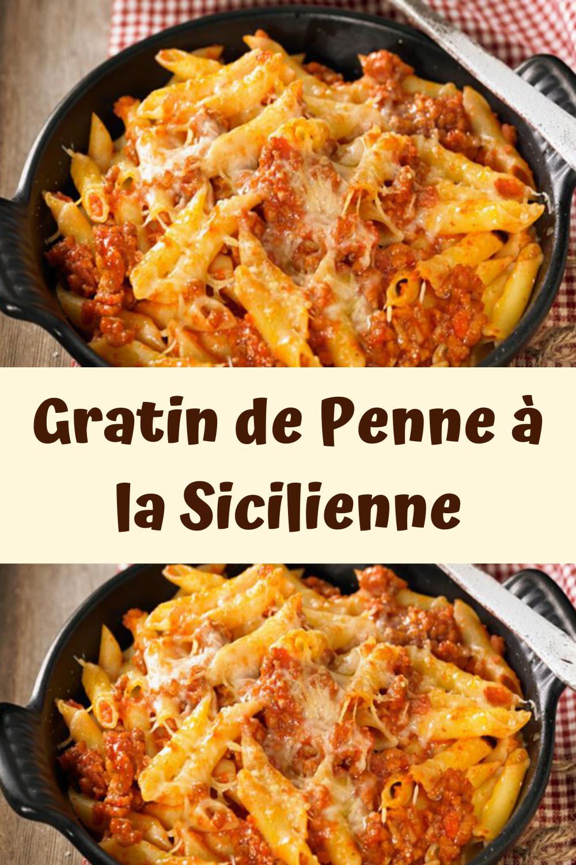 Gratin de Penne à la Sicilienne