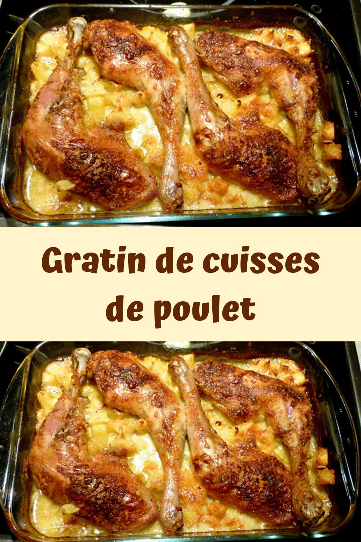 Gratin de cuisses de poulet