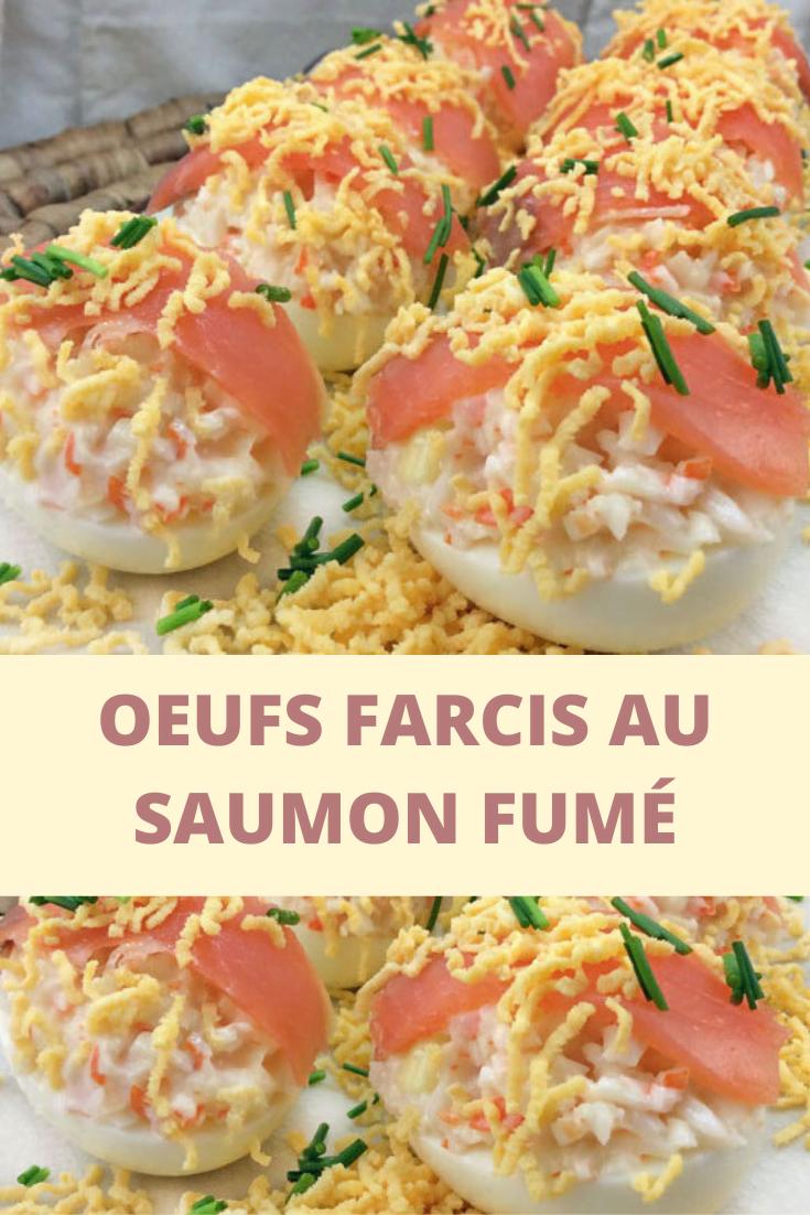 Oeufs farcis au saumon fumé