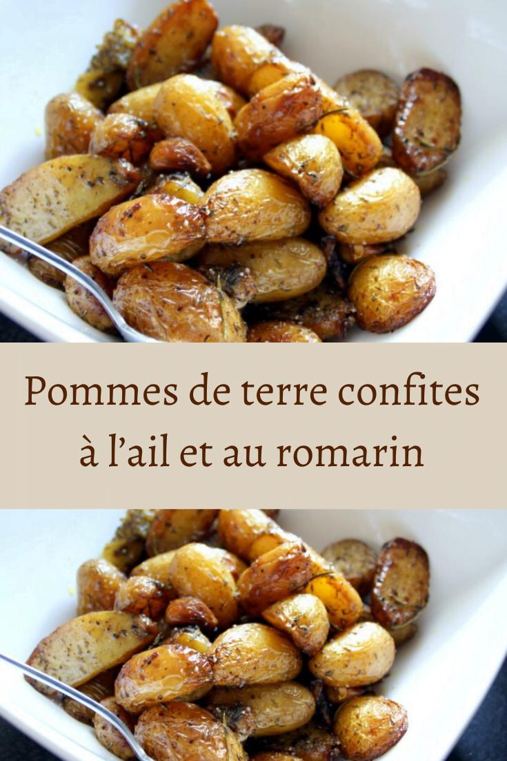 Pommes de terre confites à l'ail et au romarin
