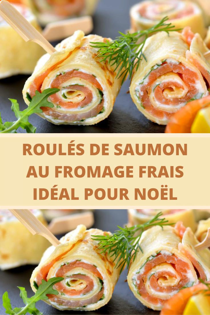 Roulés de saumon au fromage