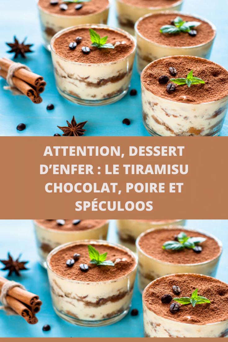 Tiramisu chocolat, poire et spéculoos