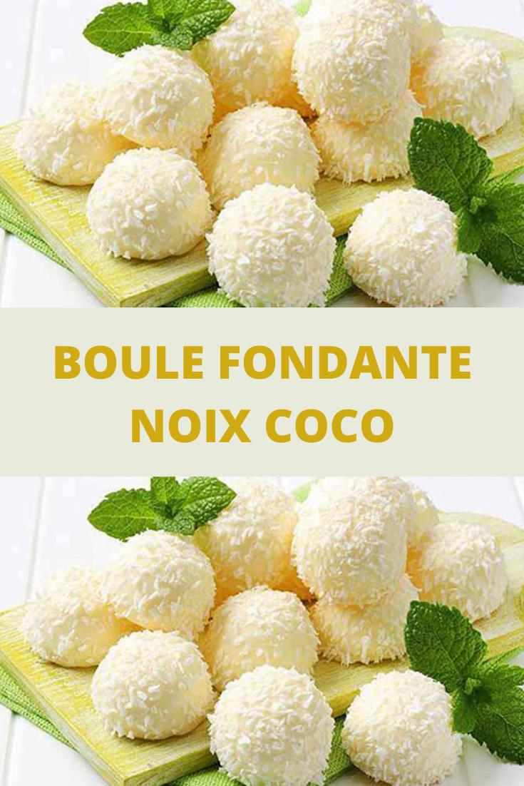 Boule fondante noix coco