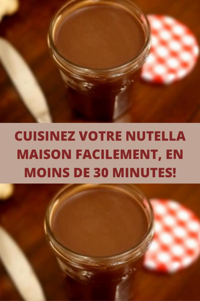 NUTELLA MAISON FACILEMENT, EN MOINS DE 30 MINUTES!