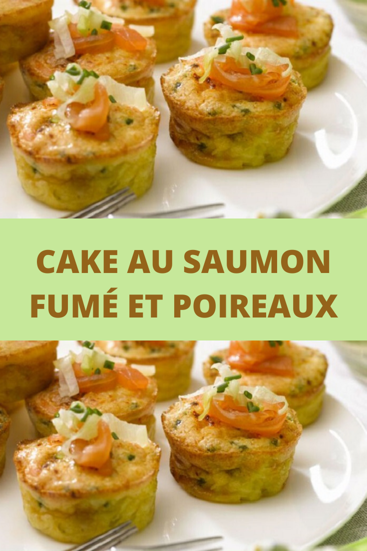 Cake au saumon fumé et poireaux