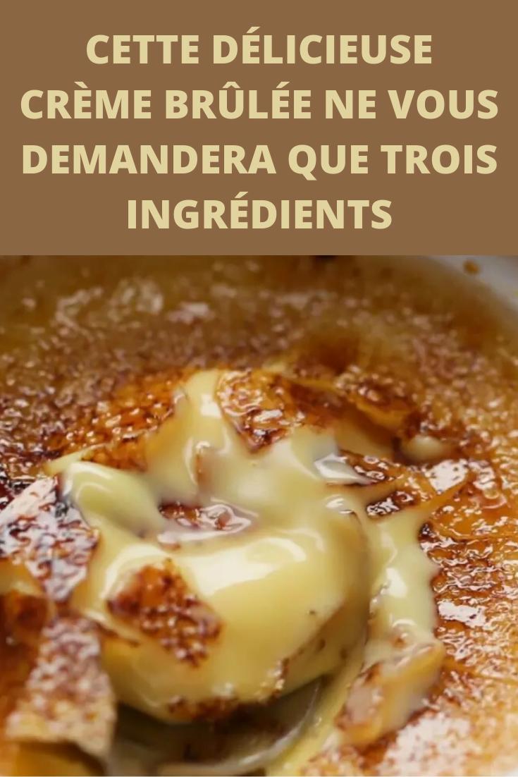 Crème brûlée en seulement trois ingrédients