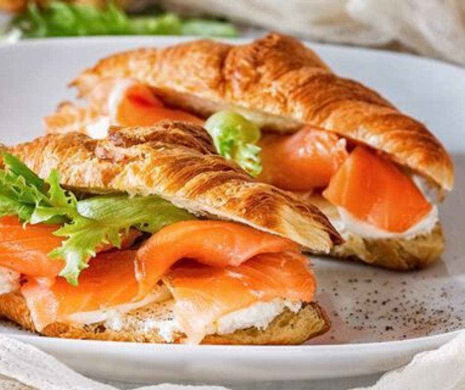 Croissant au saumon et au Boursin