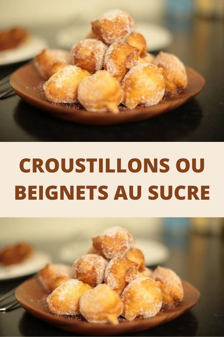 Croustillons ou beignets au sucre