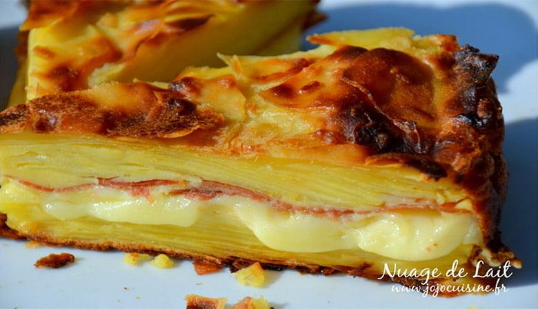 Gâteau Invisible Raclette a la Pomme de terre
