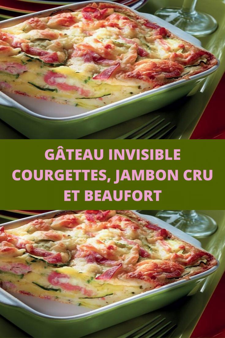 Gâteau invisible courgettes, jambon cru et Beaufort