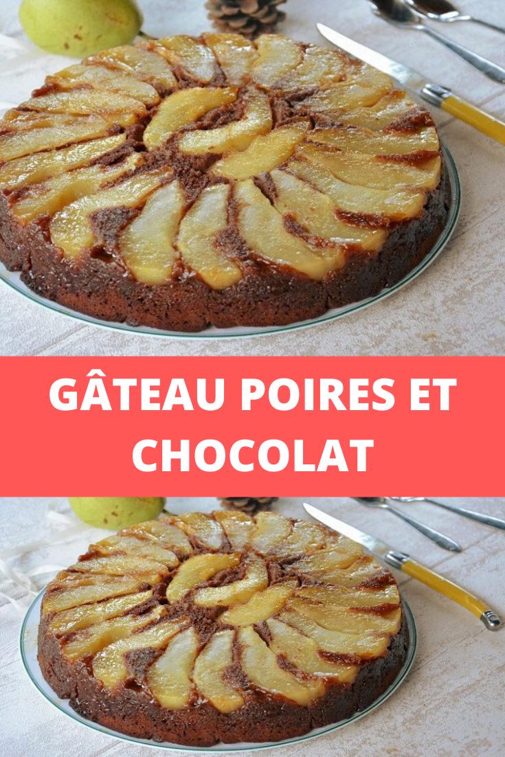 Gâteau poires et chocolat