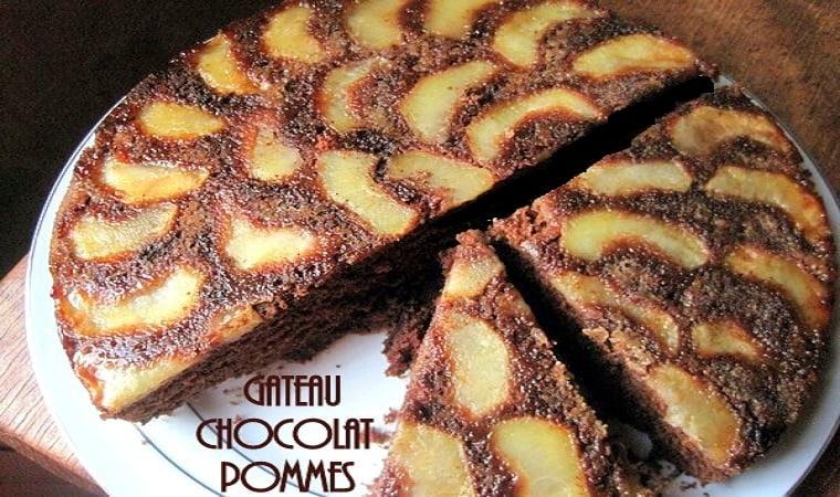 Gâteau pommes-chocolat