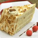 Gateau Génoise à la crème pralinée