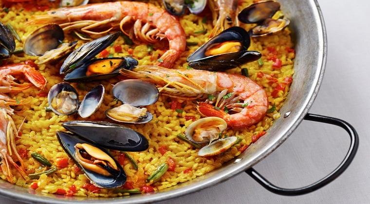 Recette paella espagnole aux fruits de mer