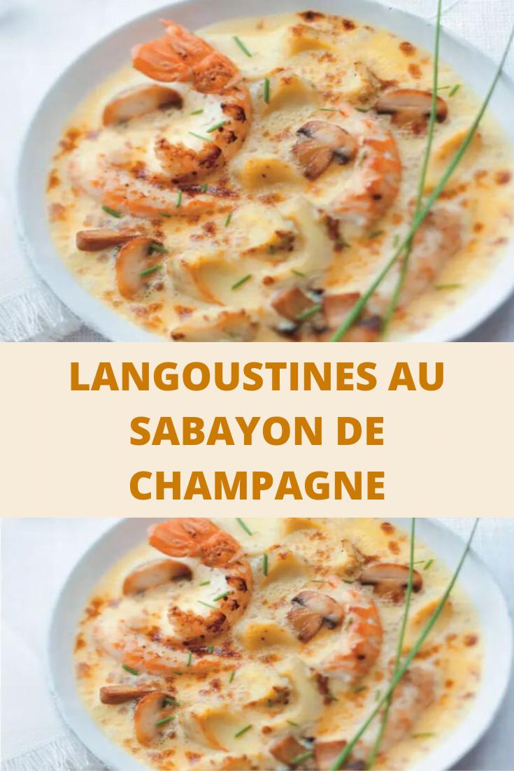 Langoustines au sabayon de champagne