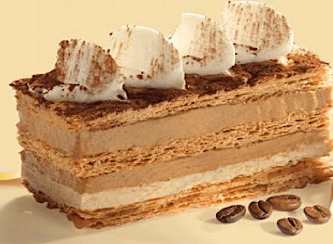 Recette dessert MILLEFEUILLE AU CAFÉ