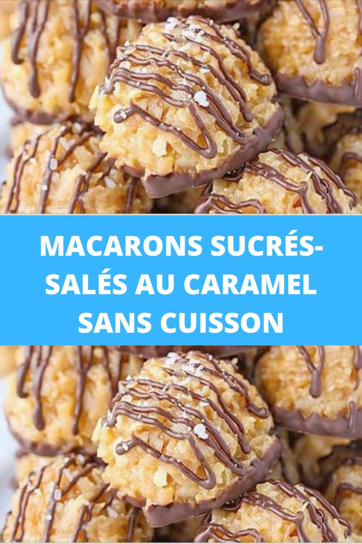 Macarons sucrés-salés au caramel sans cuisson