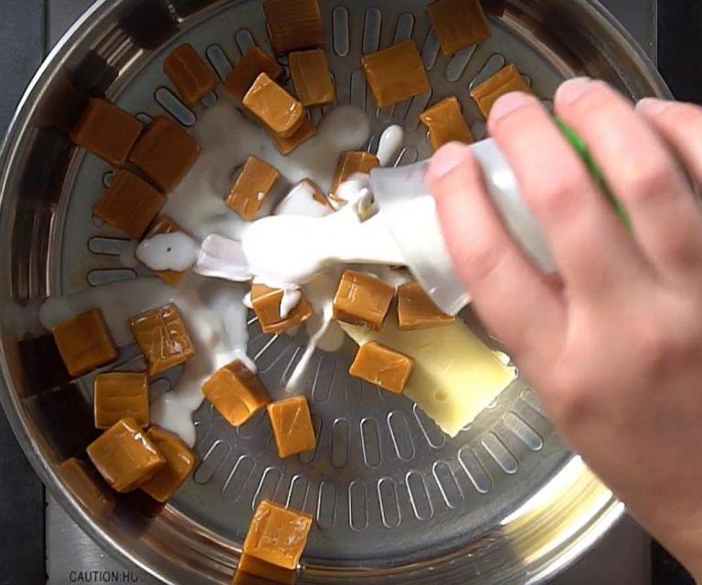 Macarons sucrés-salés au caramel sans cuisson etape 1