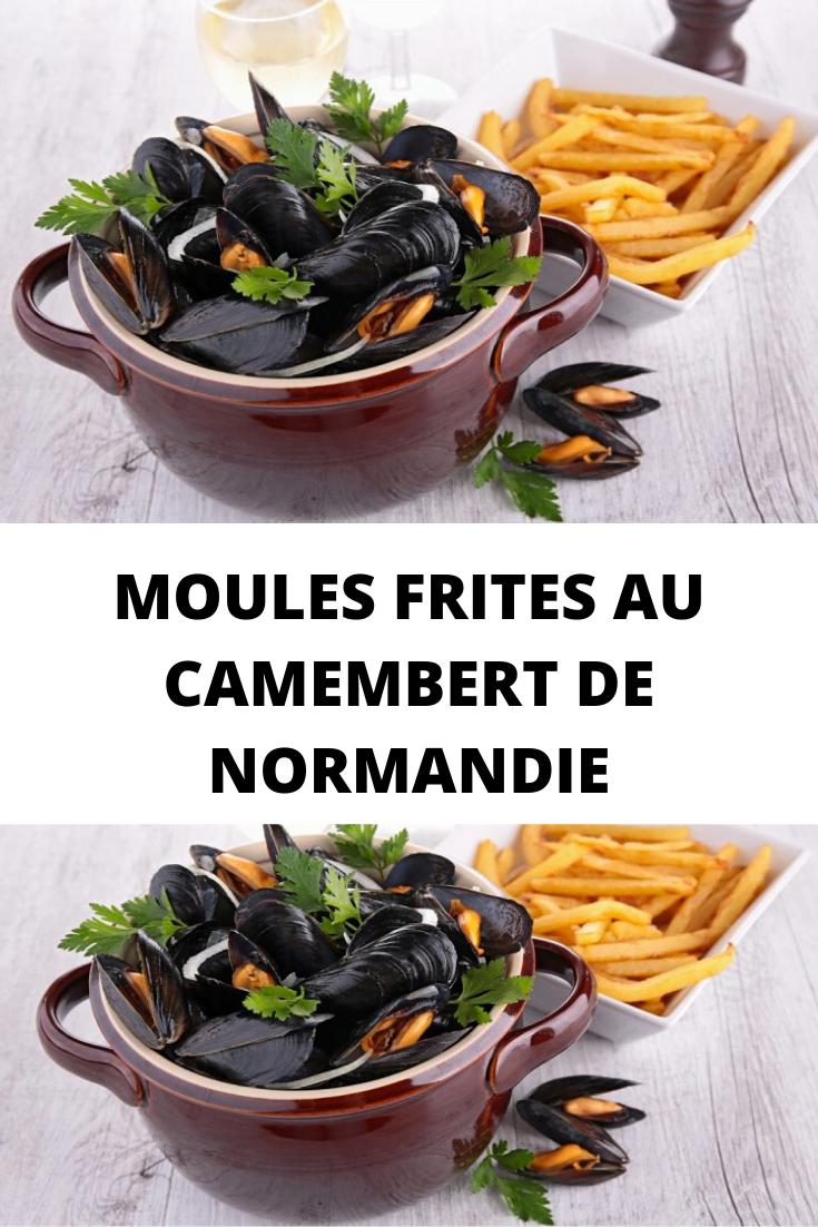 Moules frites au camembert de Normandie