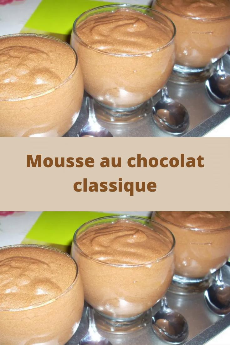 Mousse au chocolat classique