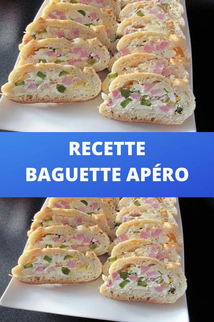 Recette Baguette apéro