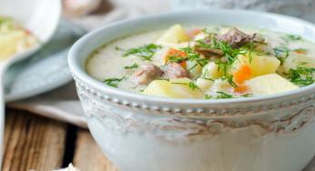 Soupe de pommes de terre à la dinde délicieuse