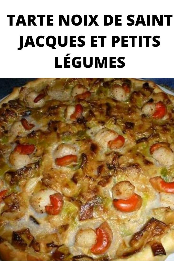 Tarte noix de saint Jacques et petits légumes