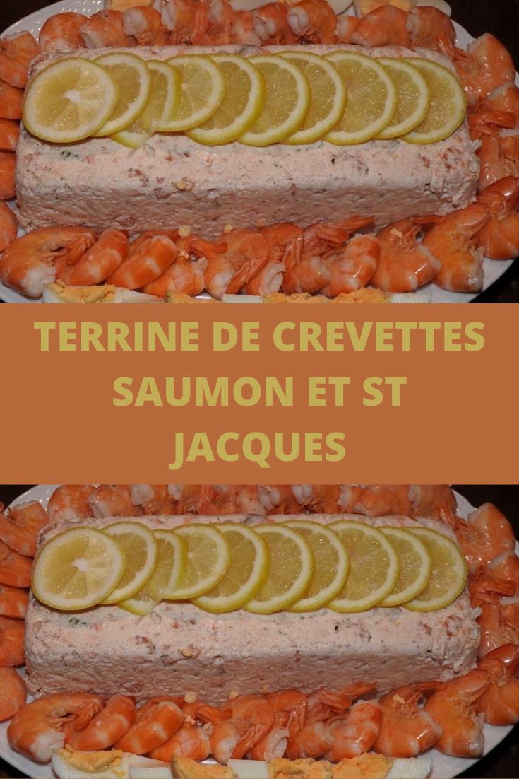 Terrine de Crevettes Saumon et st jacques