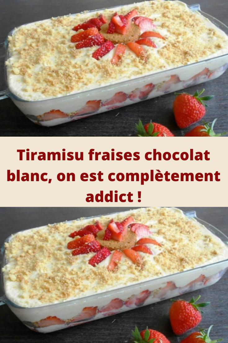 Tiramisu fraises chocolat blanc