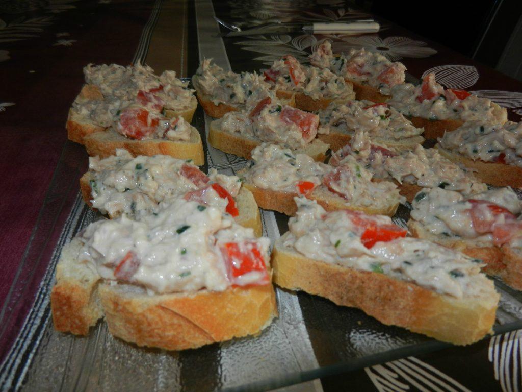 Toasts de rillettes de thon