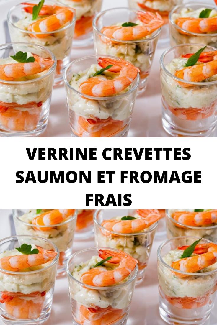 Verrine crevettes saumon et fromage frais