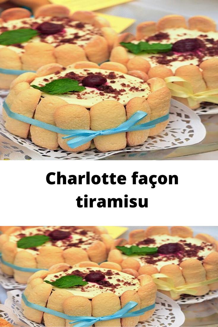 Charlotte façon tiramisu