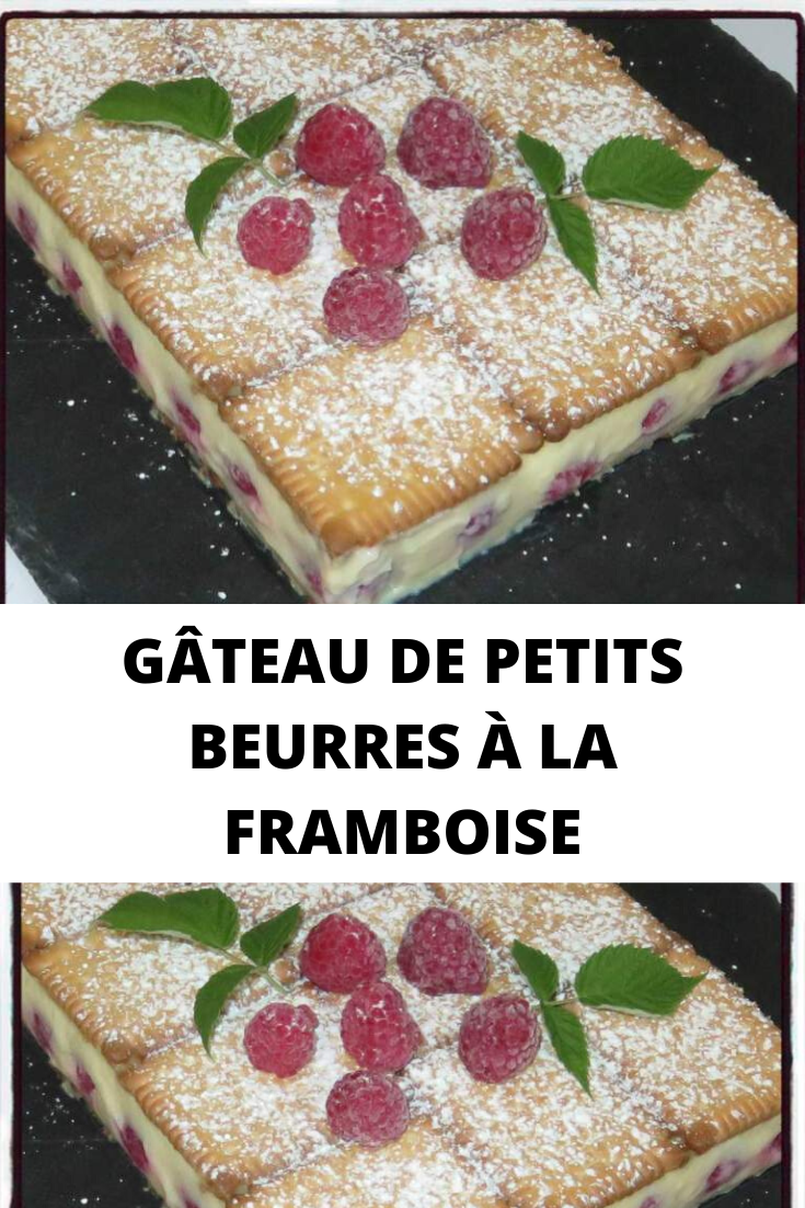 GÂTEAU DE PETITS BEURRES À LA FRAMBOISE