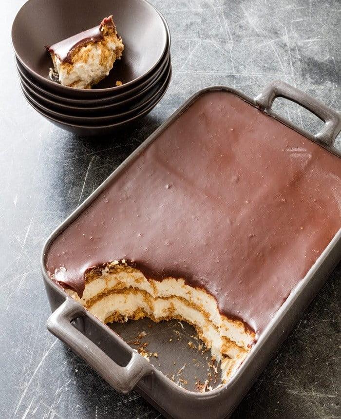 Gâteau Éclair au chocolat..