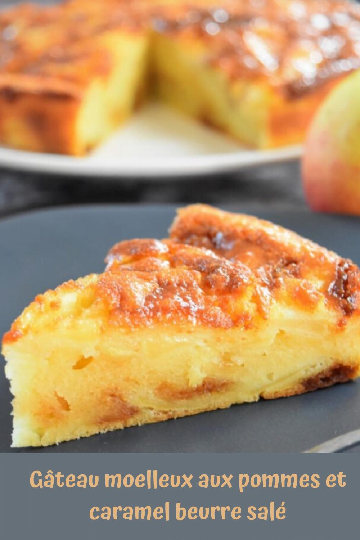 Gâteau moelleux aux pommes et caramel beurre salé