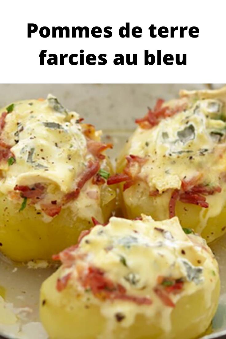 Pommes de terre farcies au bleu