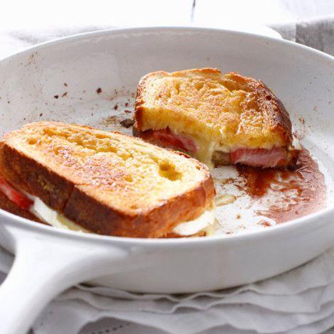 Recette Pain perdu brioché au fromage et aux fraises