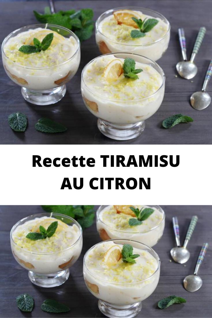 Recette TIRAMISU AU CITRON