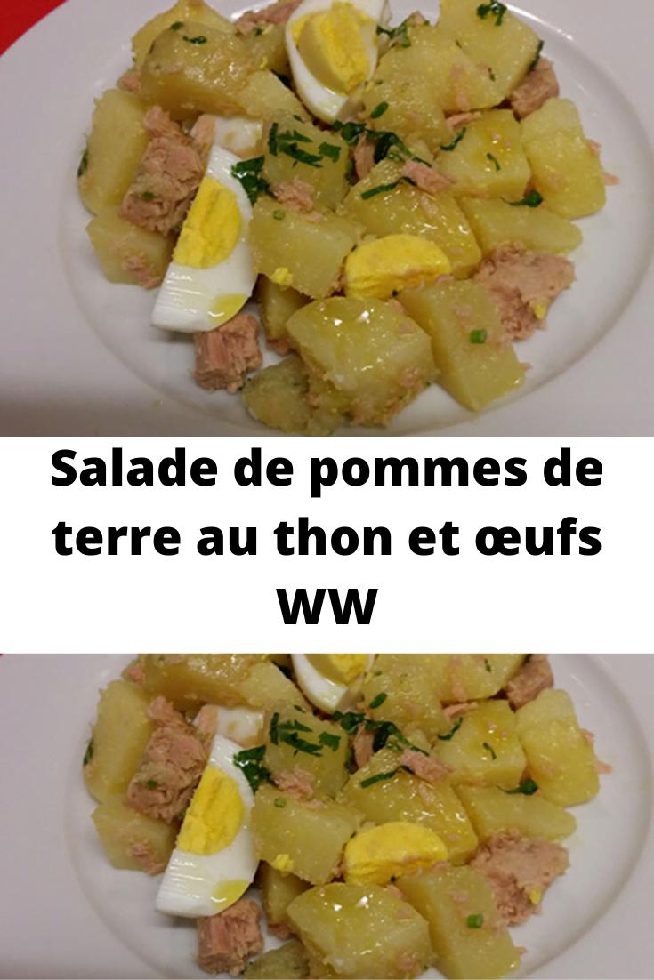 Salade de pommes de terre au thon et œufs WW