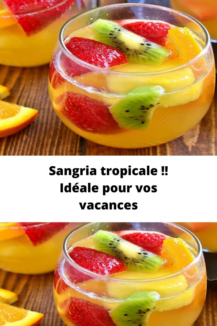 Recette Sangria tropicale