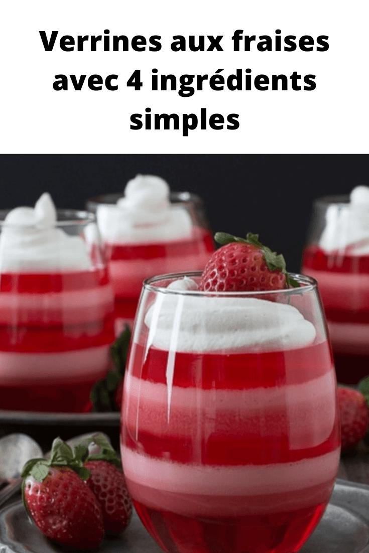 Verrines aux fraises avec 4 ingrédients simples