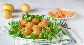 Boulettes de pommes de terre et saumon
