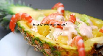 Cocktail d'ananas aux crevettes entrée facile