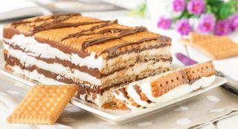 Lingot de biscuits au mascarpone et Nutella sans cuisson