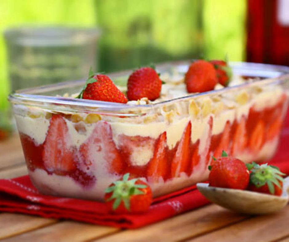 Recette dessert: Pudding à la fraise un régal