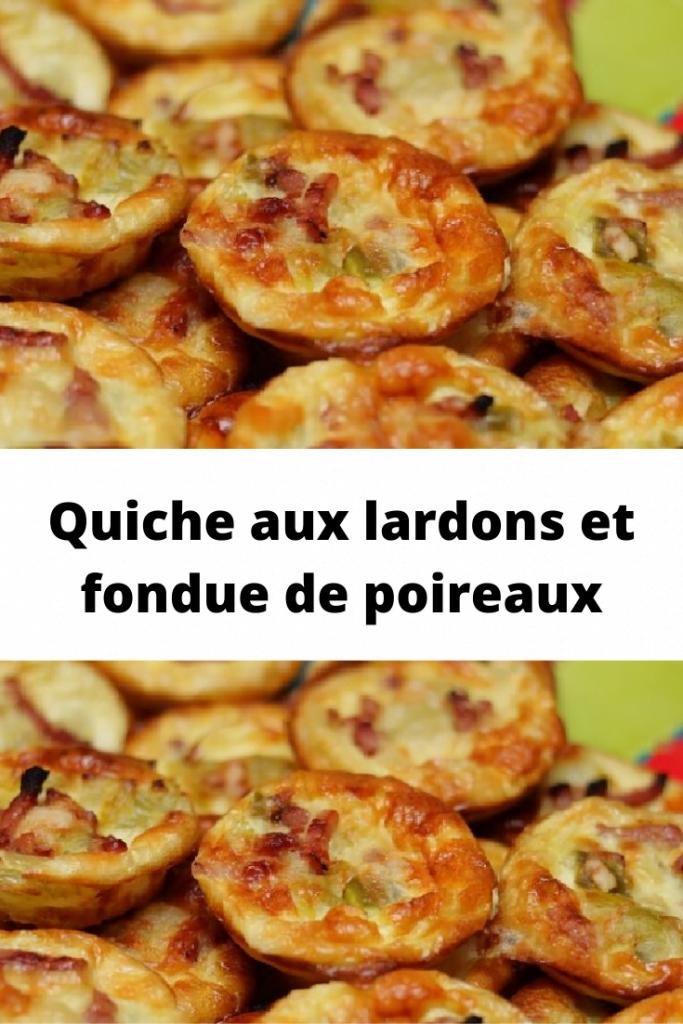 Quiche aux lardons et fondue de poireaux