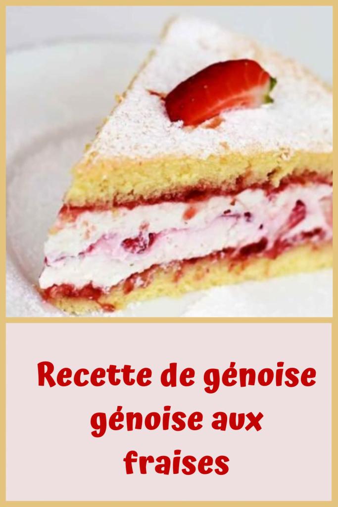 Génoise aux fraises sans levure