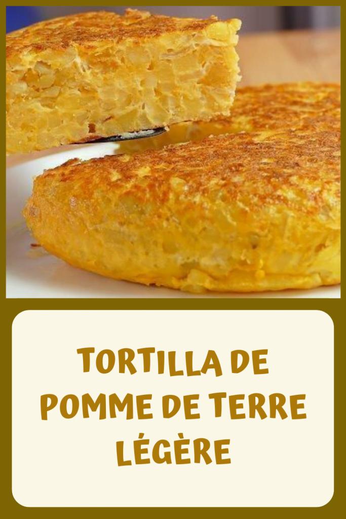 TORTILLA DE POMME DE TERRE LÉGÈRE